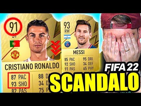 SCANDALO FIFA 22!! CRISTIANO RONALDO SOLO 91?? - FIFA 22 RATINGS