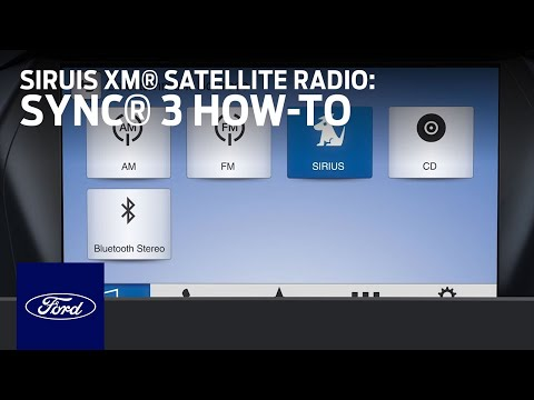 Using SiriusXM® Satellite Radio With SYNC® 3 | Ford How-To | Ford