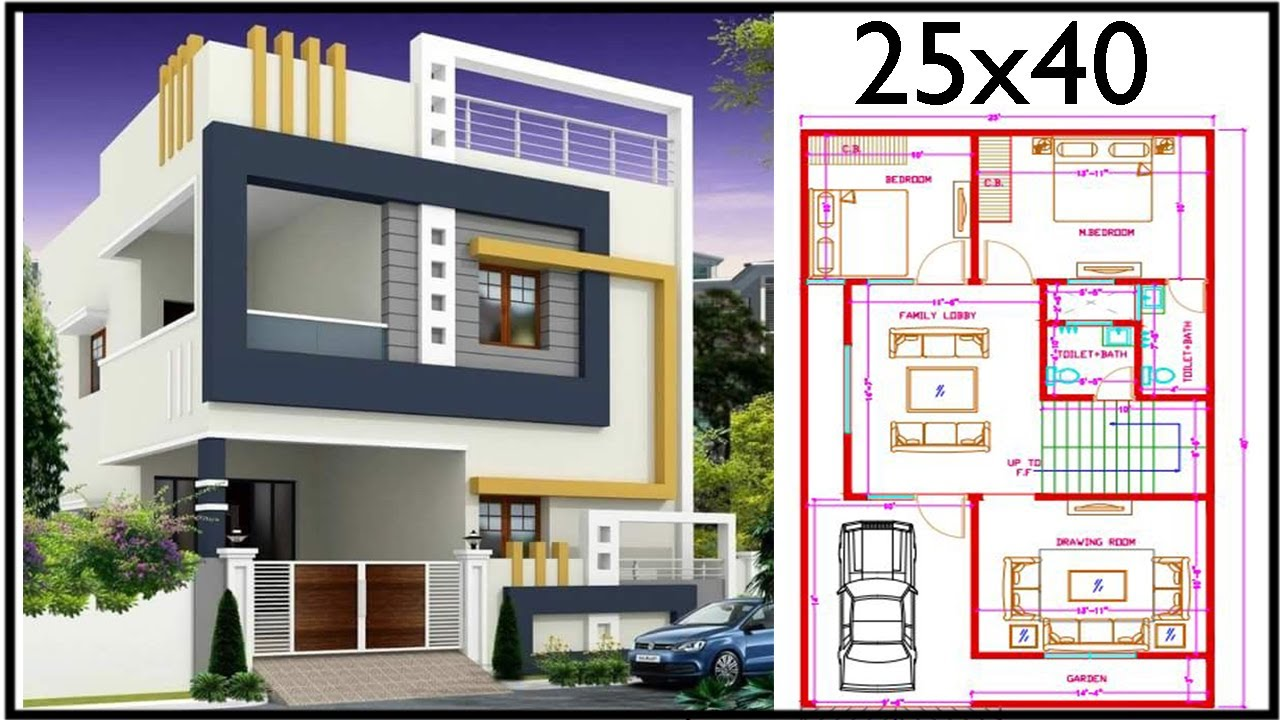 """25'-0""""x40'-0"""" House Design 