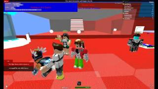 A hacker in roblox (making roblox ppl Hum*)