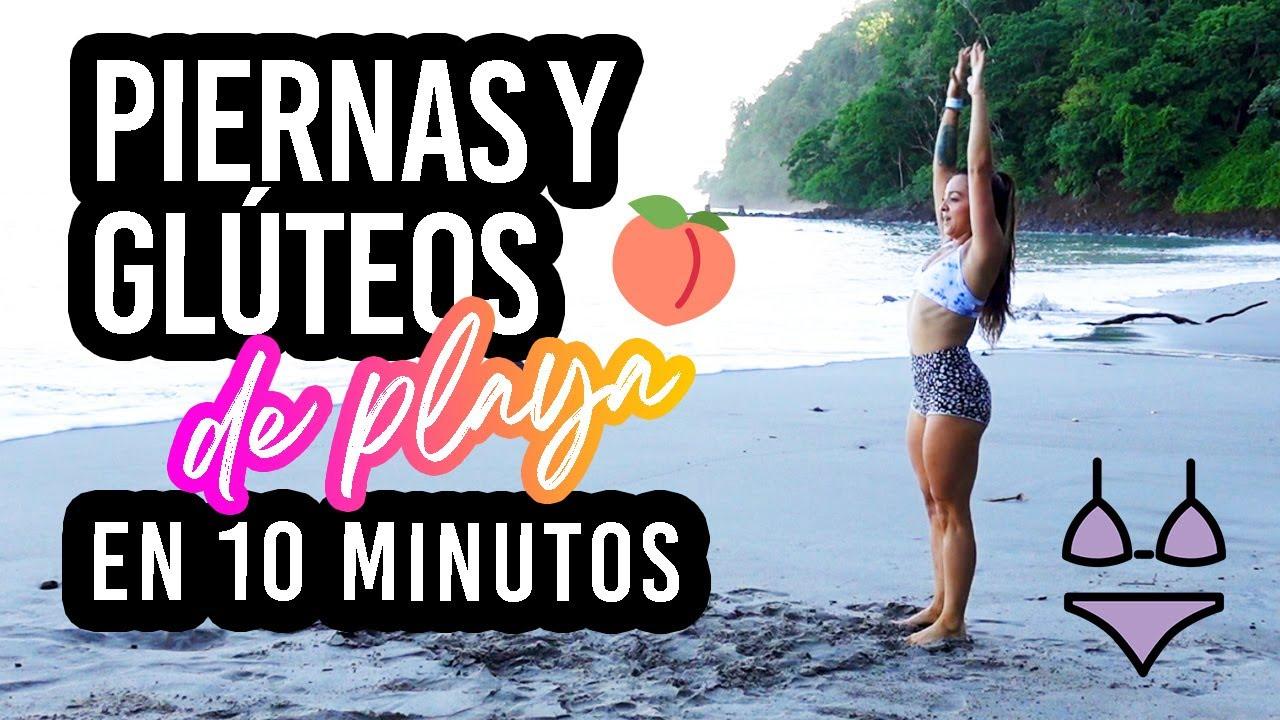 🍑 RUTINA de PIERNAS Y GLÚTEOS de playa 10 MINUTOS -Leg and glutes workout: Beach Body - Natalia Vanq