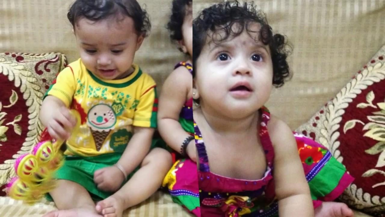 Cute twins baby boy girl indian part ii