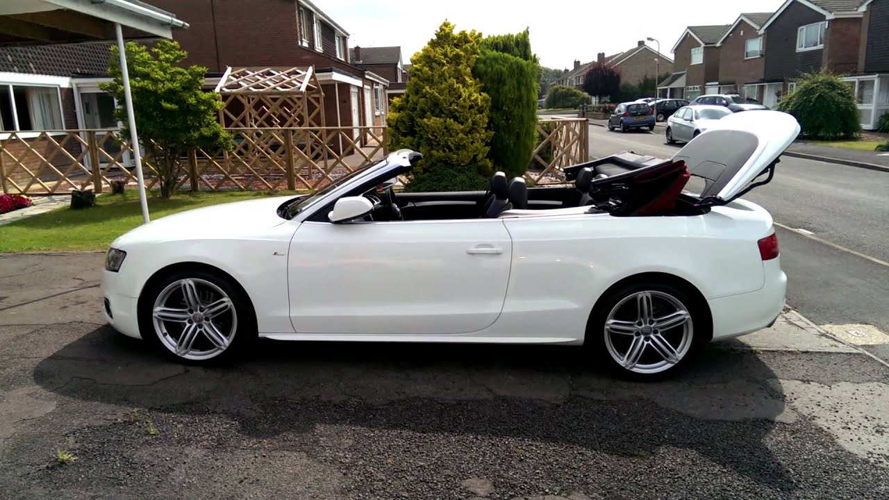 audi a5 cabriolet convertible 8f roof closing with remote youtube. Black Bedroom Furniture Sets. Home Design Ideas