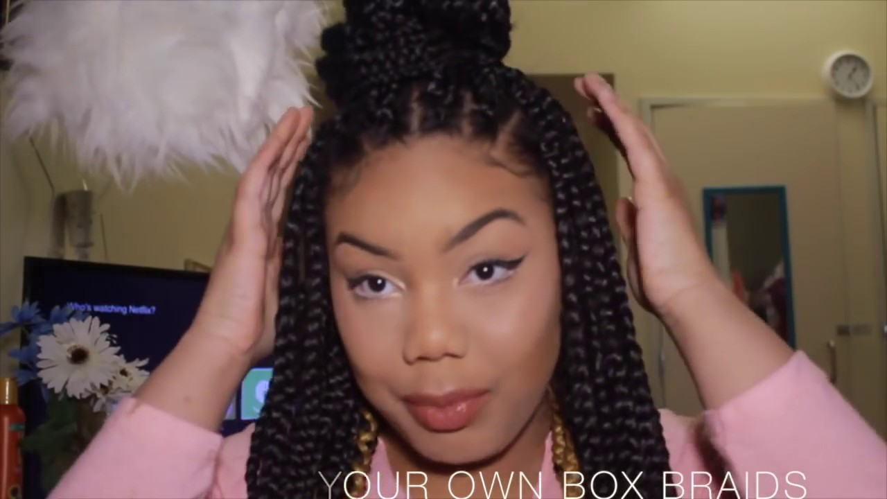 How To Do Box Braids For Beginners Youtube