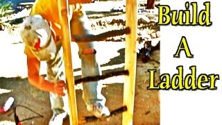 This video is not available. Ladder Construction - Build using rustic wood logs/branches