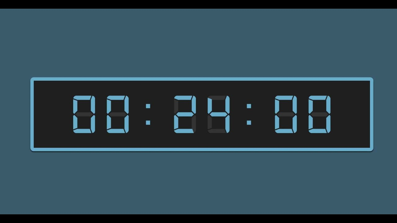 24 Timer Sound 24 minute timer with alarm sound.