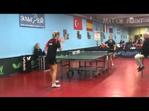 Anastasiya GOLUBEVA - Anna BLAZHKO. Russian Women's Premier League 2014-2015. III tour