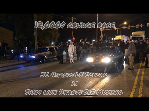 12,000$ GRUDGE Race Jersey City Nitrous Cougar Vs Shady Lane Philly Nitrous SBF Mustang!