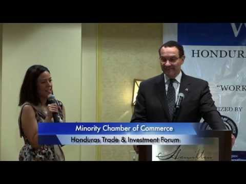 Minority Chamber Of Commerce 'Honduras Trade & Investment Forum' 8/29/14