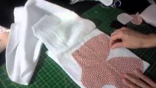 Touca/Gorro de orelhinha em tecido e soft – parte 1