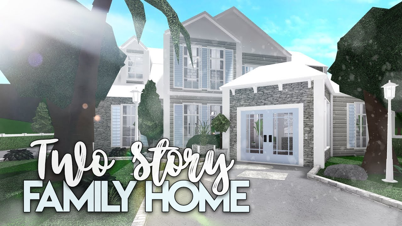 Roblox Bloxburg 2 Story Family House House Build Youtube