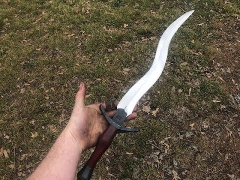 Forging a kris dagger from an old file