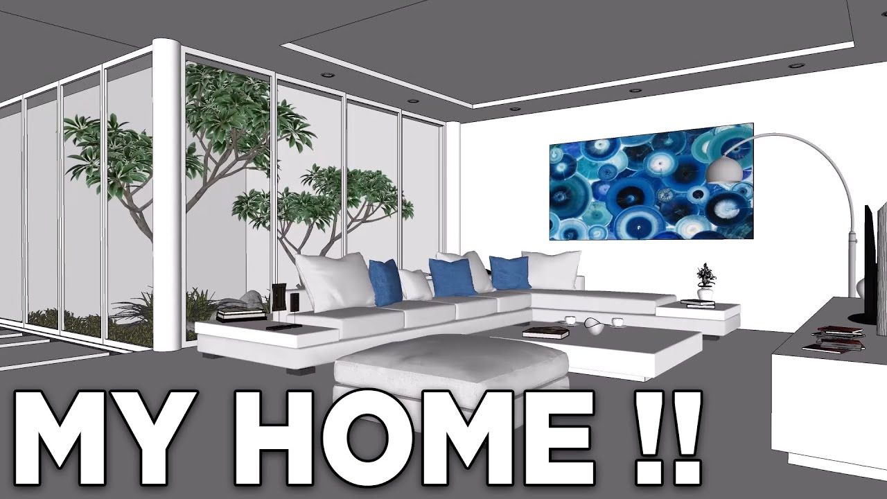 My Home Extension Design Concept _ Gardens, Living Room, Boarding ...