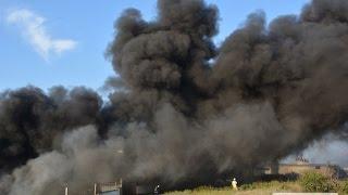 Видео Новости-N: В Николаеве горит завод
