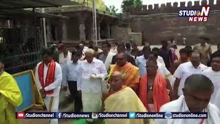 Karnataka Governor  Vajubhai Visits Sri Sailam Temple | Studio N