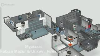 Обзор моих тестовых камер в Portal 2,которые я создал.