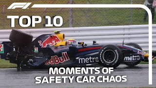 Top 10 Moments Of F1 Safety Car Chaos