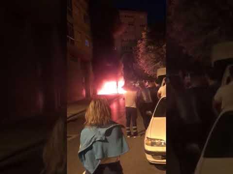 Arden dos contenedores en Lugo