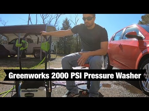 Greenworks 2000 PSI Review | With Hose Reel - Pressure