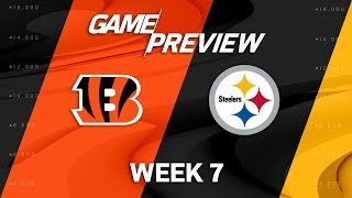 Cincinnati Bengals vs. Pittsburgh Steelers | Week 7 Game Preview | NFL Playbook
