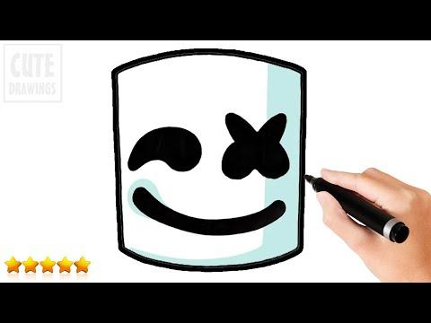 how to draw marshmello face easy fortnite cool kids art - art hub for kids fortnite skins