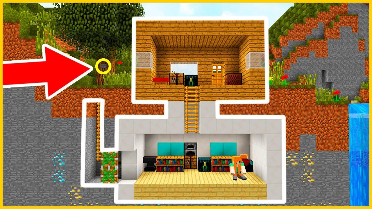 Casa secreta bajo tierra en minecraft youtube - Casas bajo tierra ...