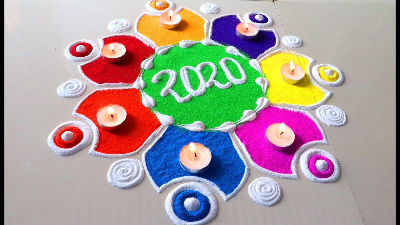 happy new year rangoli designs for 2020 beautiful new year 2020 rangoli designs video news facto news facto