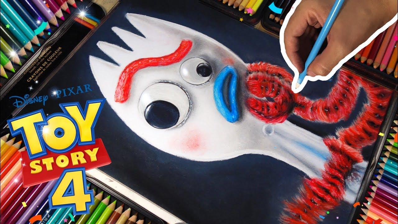 Dibujando A Forky Toy Story 4 Poster Real Disney Pixar Draw Forky Toystory4