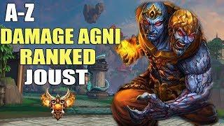 SMITE A-Z Ranked Joust 3v3   Agni Damage Build!