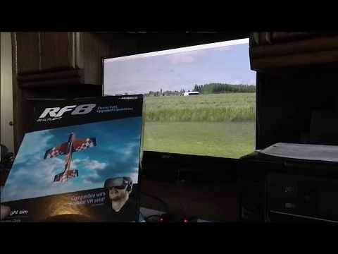 (NEW)  Real Flight RF-8  Out of the Box, Quick Set-Up, Quick Look.  for Windows Vista thru Win. 10