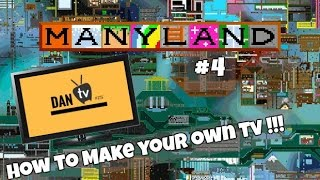 How to make a tv in manyland | Manyland #4