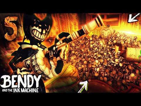 CHAPTER 5 BACON SOUP MINI-GUN VS EVERY BOSS!! O-O | Bendy and the Ink Machine [Chapter 4] Hacking