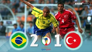 Brasil 2 x 1 Turkey 2002 World Cup Extended Goals Highlights HD