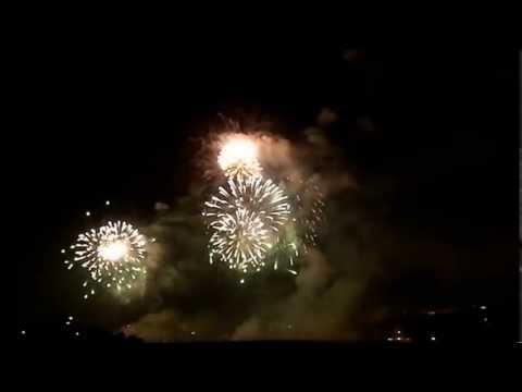 Swiss national Firework / National Feuerwerk (1.August) Basel am Rhein Schweiz vom 31.7.2013