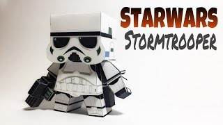 Stormtrooper Star Wars Paper Crafts tutorial !