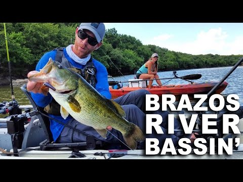 Kayak Fishing: Brazos River Bassin' with Connie & Lone Star Kayak Guide