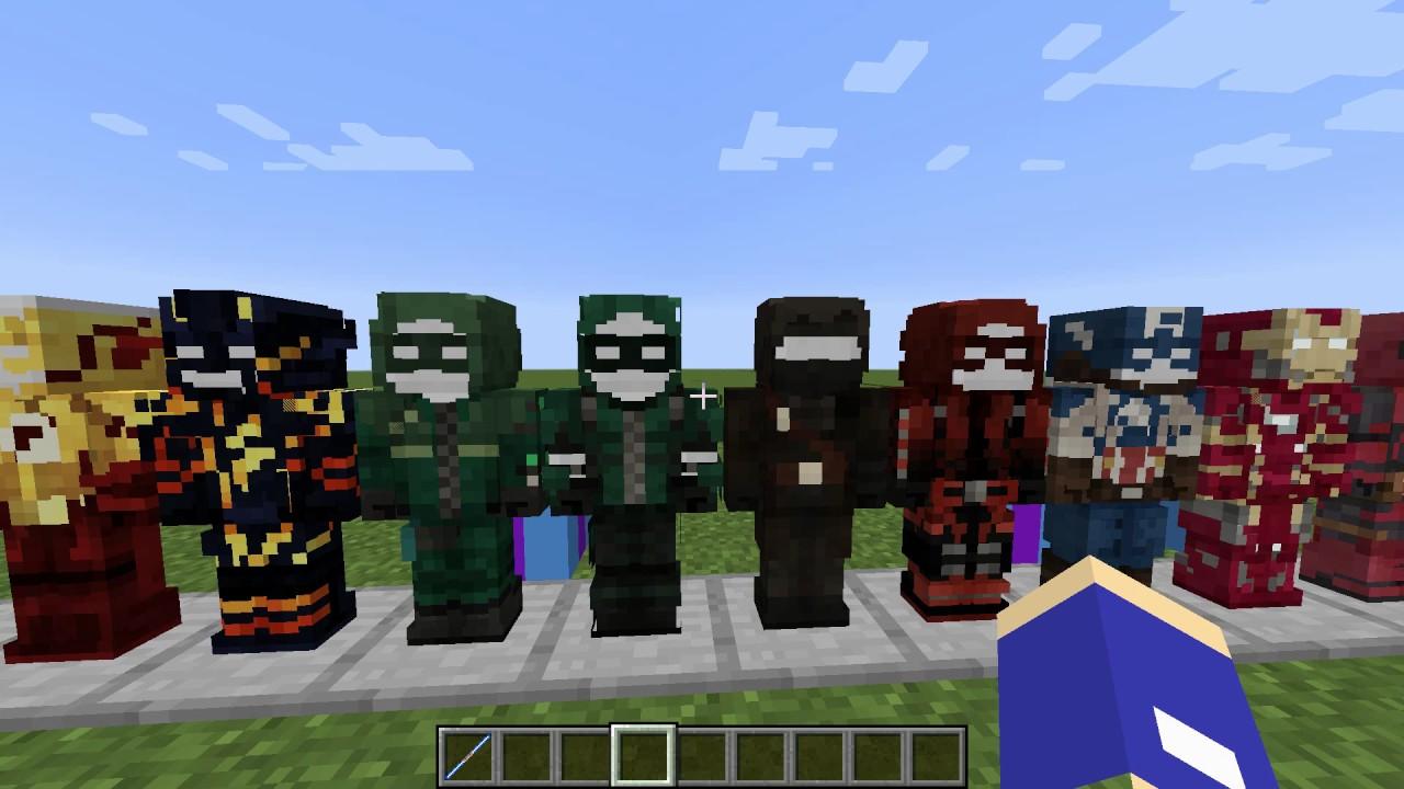 мод на майнкрафт костюмы супергероев самая новая версия #3