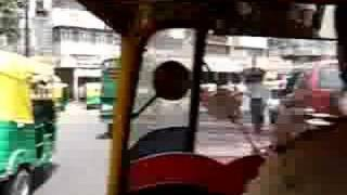 Auto-rickshaw ride in New Delhi, India