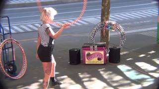 Hula Hoop Street Performance.
