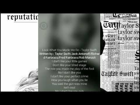 Taylor Swift - Look What You Made Me Do (Lyric Video version JOOX)