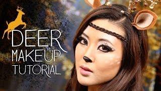 Cute Deer Makeup Tutorial   Halloween