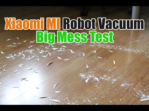 Xiaomi MI Robot Vacuum Big Mess Test (Testing How It Does Cl