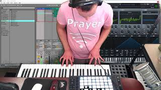 First Ableton Live 9 Session with Serum and Xfer Drum Loops!
