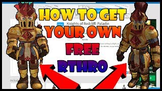 [RTHRO RELEASED] HOW TO GET YOUR OWN RTHRO IN ROBLOX