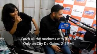 Badshah & Aastha go crazy with RJ Yuvi in Radio City Studios !