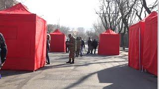 Կարմիր և կանաչ վրաններ, վառարաններ․ Փաշինյանի հրաժարականը պահանջողները գիշերել են Բաղրամյանում