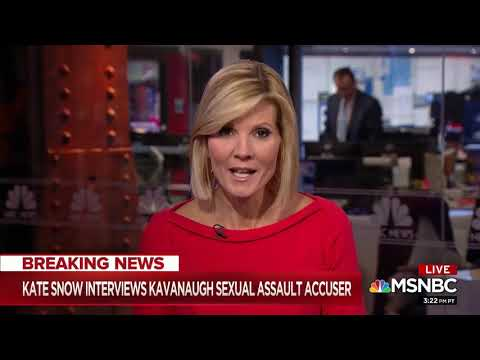 "NBC's Kate Snow: Julie Swetnick ""Told Us [Things] On Camera That Differ From Her Written Statement�"