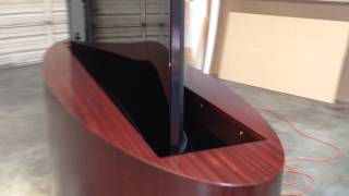 Tv Lift Cabinet With Curved 65 Inch Tv