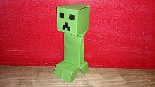Origami : Un Creeper de Minecraft.