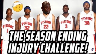 The SEASON ENDING Injury Challenge! KRISPYFLAKES FAVORITE TEAM! NBA 2K17 MY League